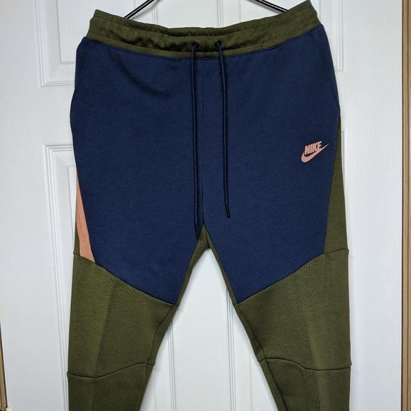 Nike Pants Nike Tech Fleece Joggers Pants Olive Greenblue Poshmark